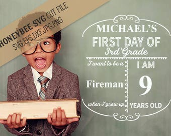 First Day/Last Day of school template svg eps dxf jpg png cut file for Silhouette and Cricut cutting machines