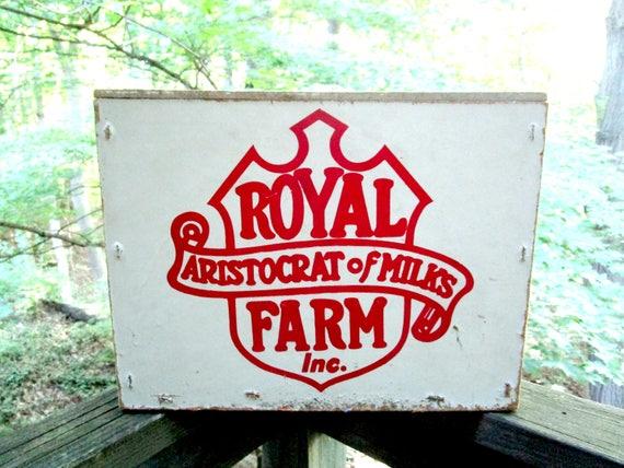 Porch Milk Box, Royal Crest Milk Box, Aristocrats of Milk, Porch Delivery Box, Home Delivery Milk Box, Milk Crate, Farmhouse Decor