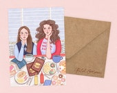 Gilmore Girls Card by Rachel Corcoran - Rory, Lorelai - Best Friends, Happy Birthday Card, Mothers Day, Sister Gift - Illustration Print