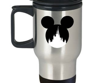 Magic Castle Mouse Travel Mug Gift Love Fan Fanatic Magical Coffee Cup