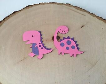 Scrapbook Embellishments, Dinosaur Die Cut - Set of 4