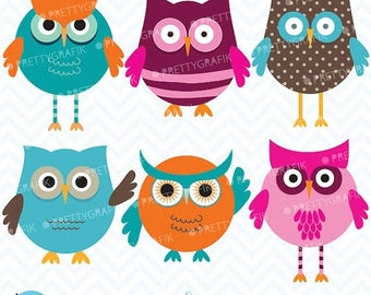 80% OFF SALE owl clipart commercial use, vector graphics, digital clip art, digital images  - CL547