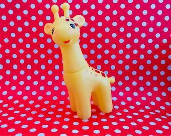 Vintage Rubber Squeak Giraffe Toy Japan Squeaky