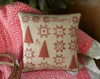 Cross Stitch Pattern - Merry and Bright