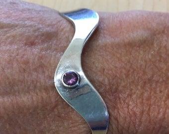 Vintage  Silver and Amethyst 925 Bracelet
