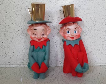 Vintage Knee Huggers with Gold Top Hats