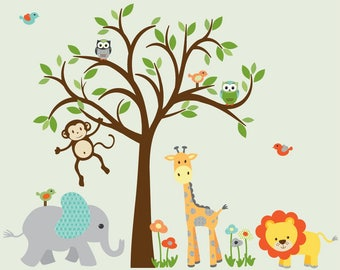 Superieur Childrens Wall Decal, Safari Wall Decal, Jungle Wall Decal, Giraffe Decal,  Nursery