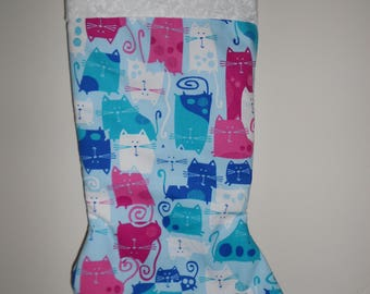 Colorful Cat Christmas stocking
