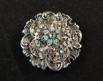 Vintage flower metal belt buckle
