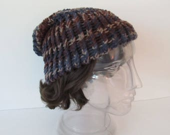 Slouch Hat, Brown, Blue, Tan, Older Child to Adult
