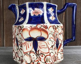 Wade Heath octagonal jug in the Imari pattern
