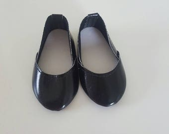 Black Slip On shoes for 18 inch dolls by The Glam Doll