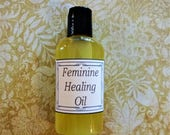 Feminine Healing Oil, Yoni Oil, Postpartum Healing - 2 oz. Vaginitis Prevention, Menopause Relief, Personal Care, Feminine Itching
