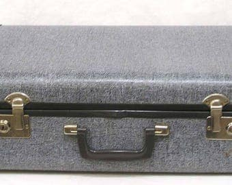 Vintage Breeze A Way Suitcase Luggage Blue-Gray 1970s-80s