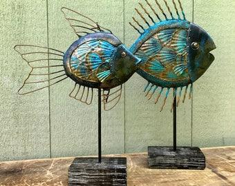 Pair of Fish Sculpture