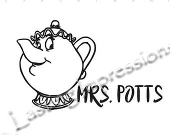 Mrs. Potts / Beauty & The Beast / Instant Pot or Crock Pot Vinyl