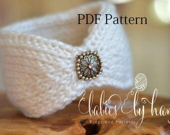 Tunisian Crochet Headband Pattern, Baby Crochet Headband Pattern, Ear Warmer PDF Pattern, Tunisian Crochet Pattern, Baby Headband Pattern