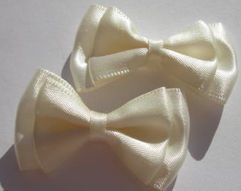 2 large satin 4 cm long approx (A243) fabric bows