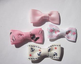 4 different colors, 34 mm (d53) fabric bow