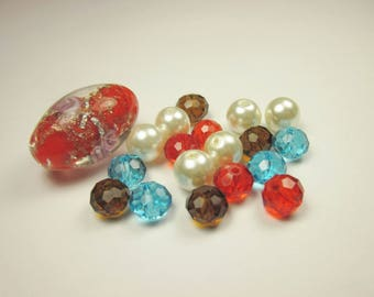 19 glass beads in assortment (CA13)