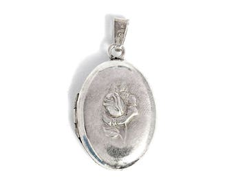 Photo Medallion Pendant Silver Jewelry