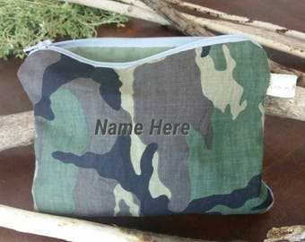 Zippered Camo Pouch
