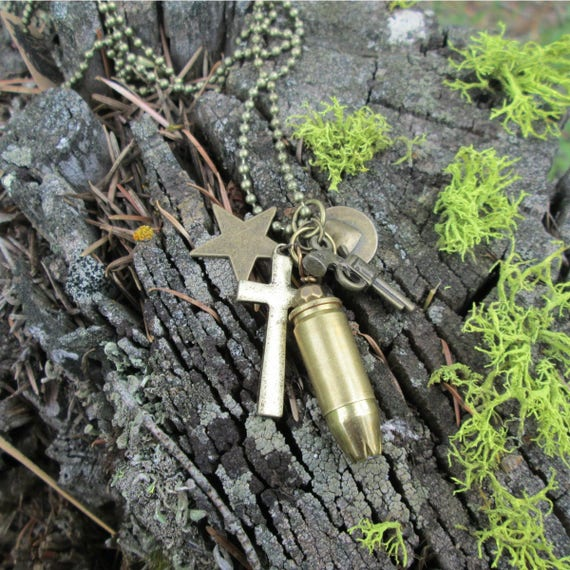 9mm Bullet Charm Necklace