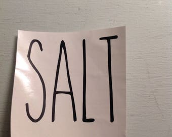 Inspired Rae Dunn Salt decal
