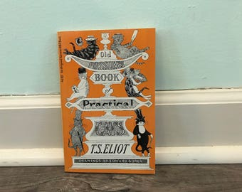 """T.S. Eliot """"Old Possum's Book of Practical Cats"""" paperback book"""