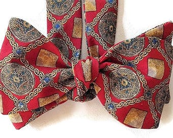 Silk Bow Tie for Men - Metropolitan - One-of-a-Kind - Handcrafted, Self-tie - Free Shipping
