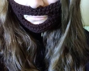 Crochet Beard Face Warmer