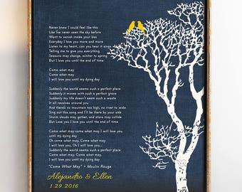 Wedding song art, Wedding song lyrics, Wedding song gift, Wedding song print, Wedding song lyric art, Wedding song lyrics 8 x 10
