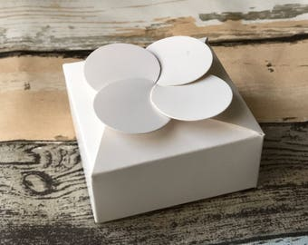40x White Paper Boxes | Bomboniere Favour Box | Wedding & Party Christmas Baptism Gift Box for Chocolate Cake
