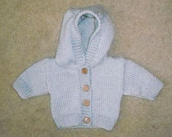 Premature Baby Hooded Cardigan