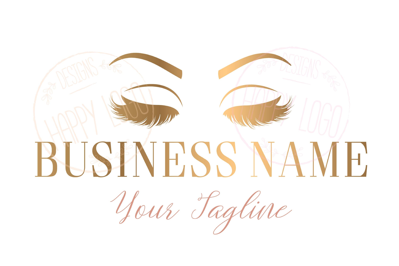 DIGITAL Custom logo design lashes logo eye lashes beauty