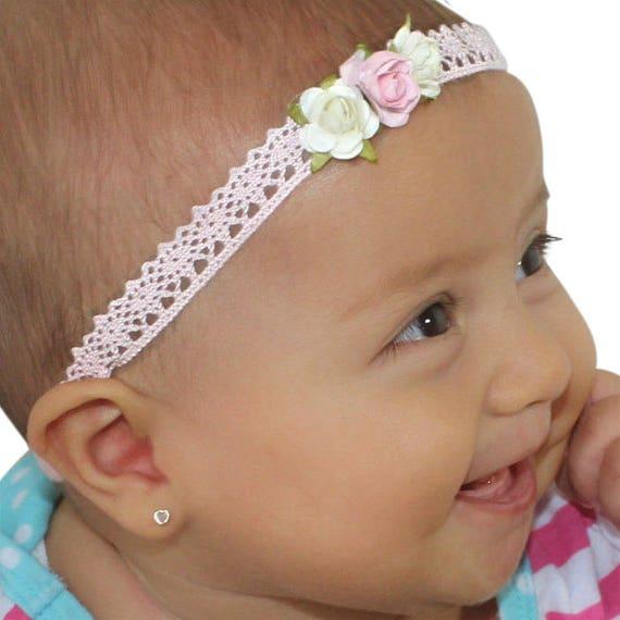 Pink Flower Headband, Pink Baby Headband, Pink Headband, Pink Headband Baby, Baby Headband Flower, Infant Headbands, Baby Headband