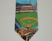 VTG 1994 Ralph Marlin Baltimore Orioles MLB Baseball Mens Tie / Necktie