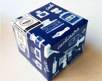 Hoppy Mini Box Map Series 4713077972397 Stationery Feast Ink Blue
