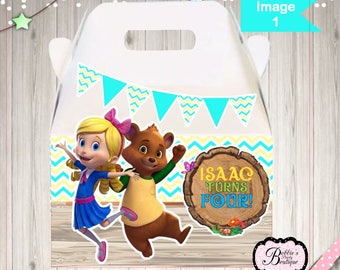 10 Goldie and Bear party boxes, Goldie and Bear Party Favors