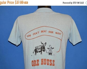 ON SALE 80s Ore House You Can't Beat Our Meat t-shirt Medium