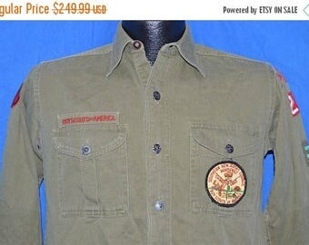 ON SALE 40s Boy Scouts Of America Uniform Shirt Small