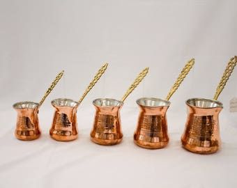 Handmade Copper Coffee Maker, Cezve, Turkish Cezve, Turkish Coffee Maker, Copper