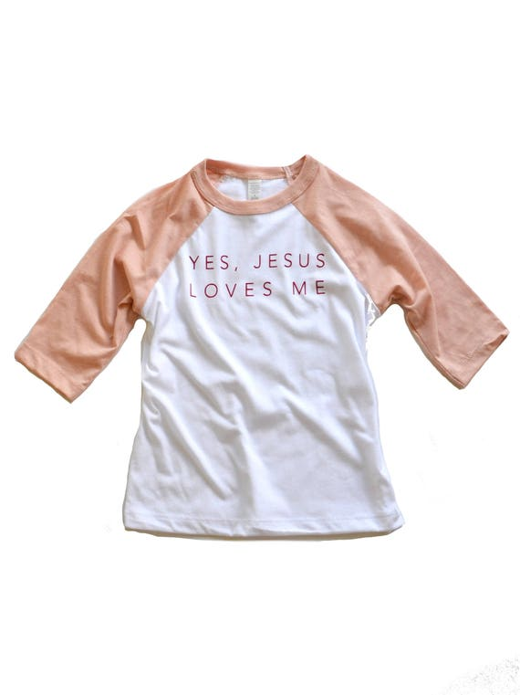 Jesus Loves Me Tee, Pink - Toddler & Youth