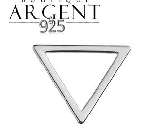Triangle geometric style 925 sterling silver charm pendant - 11.5 mm primer