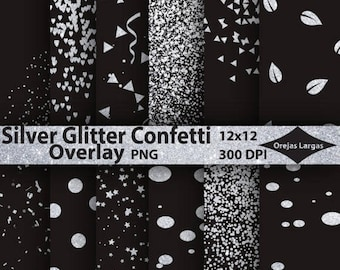 sparkling confetti overlay png clipart for party wedding