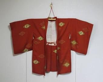 Vintage Kimono Jacket - Haori - Mon-yo