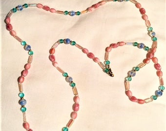 Necklace - Single Strand Beaded 38""