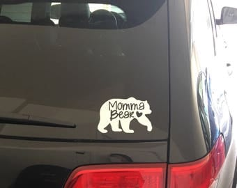 Momma Bear Decal - Mama - Mom - Mommy - Bear Cubs - Protective - Safety - Vinyl - Car Decal - Wilderness - Cub - Sweet - #1 Mom - Proud Mom