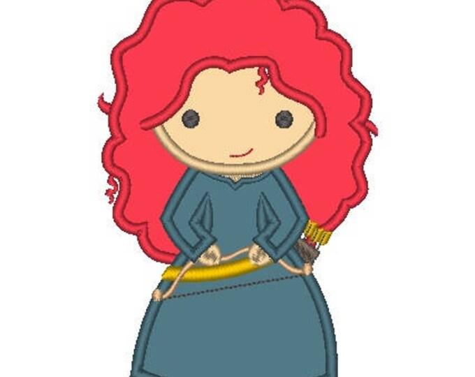 Princess Archer Girl Cutie as Merida Embroidered Shirt
