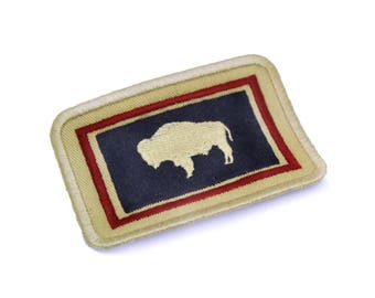 Wyoming Embroidered Flag Patch